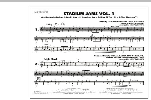 Stadium Jams - Vol. 1 - 1st Bb Trumpet (Marching Band)