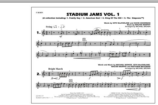 Stadium Jams - Vol. 1 - F Horn (Marching Band)