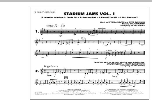 Stadium Jams - Vol. 1 - Bb Horn/Flugelhorn (Marching Band)