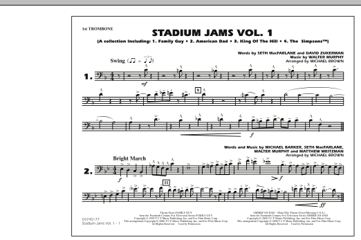 Stadium Jams - Vol. 1 - 1st Trombone (Marching Band)