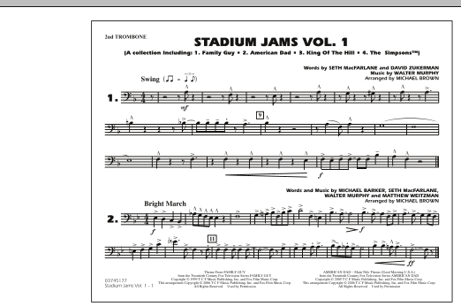 Stadium Jams - Vol. 1 - 2nd Trombone (Marching Band)