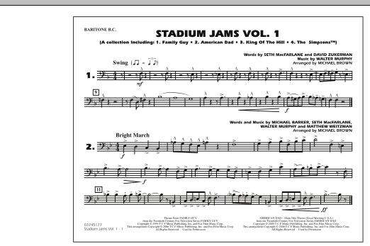 Stadium Jams - Vol. 1 - Baritone B.C. (Marching Band)