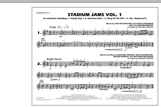 Stadium Jams - Vol. 1 - Baritone T.C. (Marching Band)