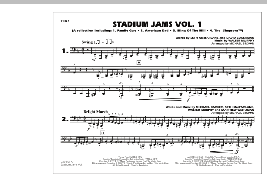 Stadium Jams - Vol. 1 - Tuba (Marching Band)