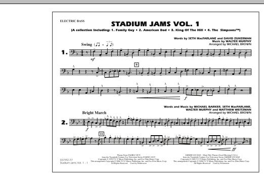 Stadium Jams - Vol. 1 - Electric Bass (Marching Band)