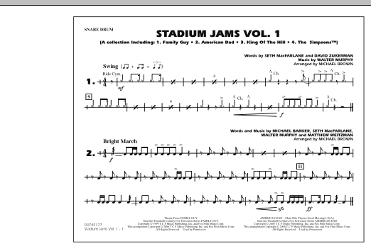 Stadium Jams - Vol. 1 - Snare Drum (Marching Band)