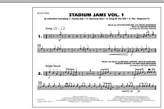 Stadium Jams - Vol. 1 - Quad Toms (Marching Band)