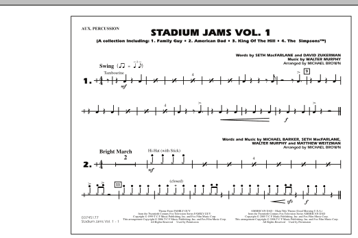 Stadium Jams - Vol. 1 - Aux Percussion (Marching Band)