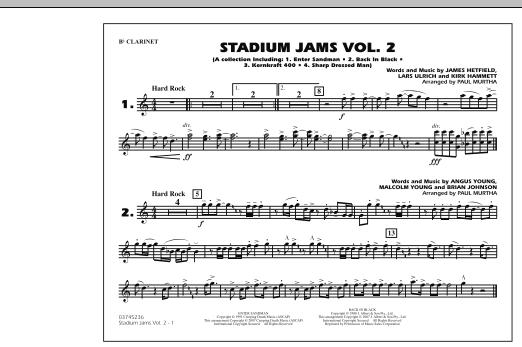 Stadium Jams - Vol. 2 - Bb Clarinet (Marching Band)