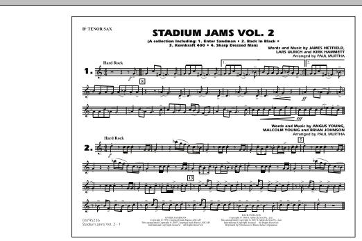 Stadium Jams - Vol. 2 - Bb Tenor Sax (Marching Band)