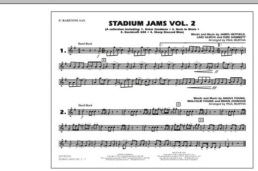 Stadium Jams - Vol. 2 - Eb Baritone Sax (Marching Band)