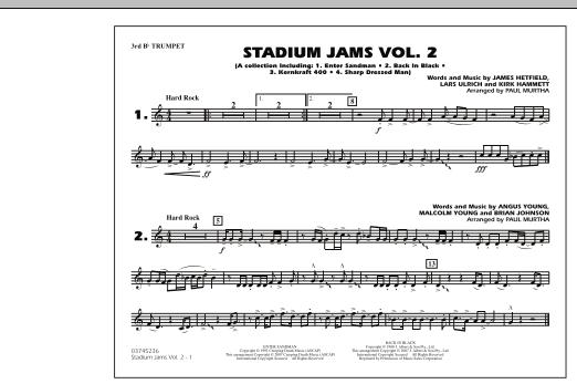 Stadium Jams - Vol. 2 - 3rd Bb Trumpet (Marching Band)
