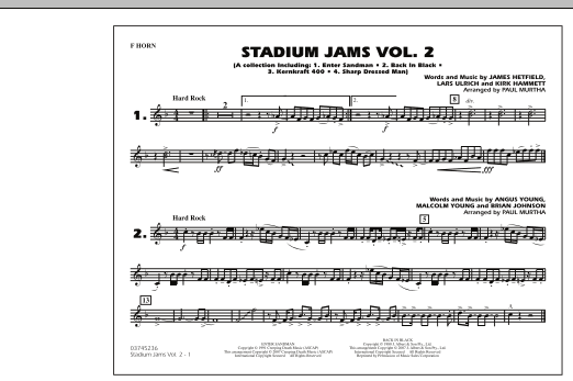 Stadium Jams - Vol. 2 - F Horn (Marching Band)