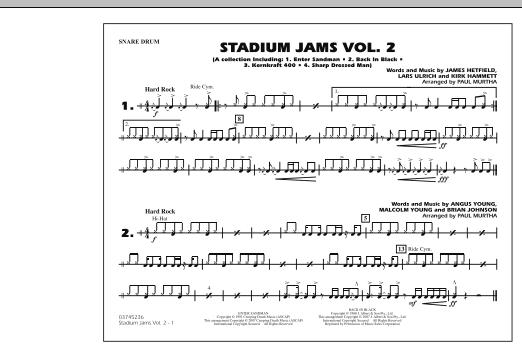 Stadium Jams - Vol. 2 - Snare Drum (Marching Band)