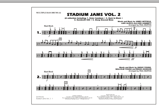 Stadium Jams - Vol. 2 - Multiple Bass Drums (Marching Band)