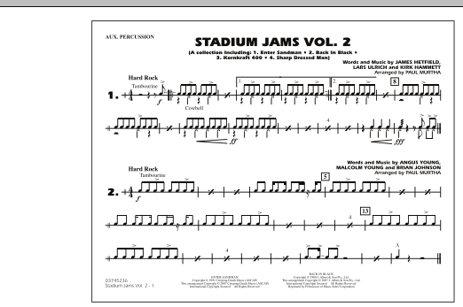 Stadium Jams - Vol. 2 - Aux Percussion (Marching Band)