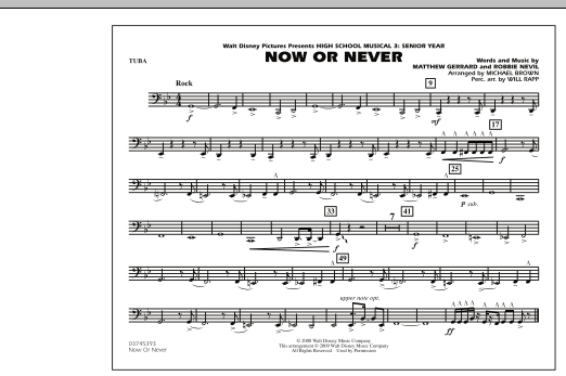"""Now or Never (from """"High School Musical 3"""") - Tuba (Marching Band)"""