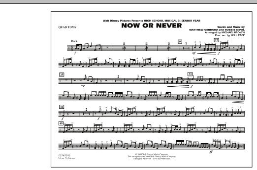 """Now or Never (from """"High School Musical 3"""") - Quad Toms (Marching Band)"""