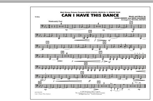 """Can I Have This Dance (from """"High School Musical 3"""") - Tuba (Marching Band)"""
