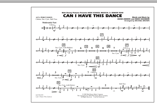 "Can I Have This Dance (from ""High School Musical 3"") - Aux Percussion (Marching Band)"