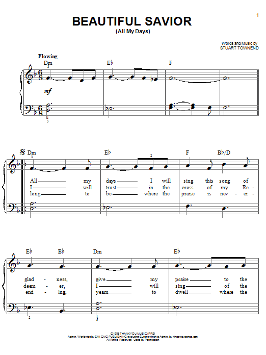 Beautiful Savior (All My Days) Sheet Music