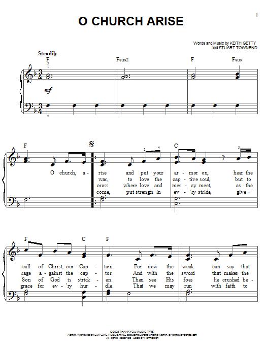 O Church Arise (Easy Piano)