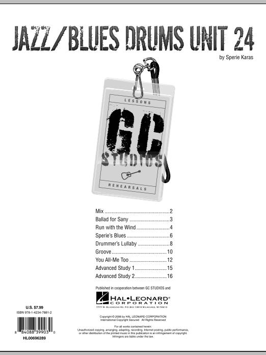 Jazz/Blues Drums Unit 24 - GC Studios by Sperie Karas Guitar Center Lesson  Digital Sheet Music