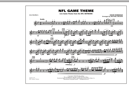 NFL Game Theme - Flute/Piccolo (Marching Band)