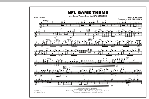 NFL Game Theme - Bb Clarinet (Marching Band)