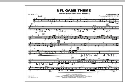 NFL Game Theme - Eb Alto Sax (Marching Band)