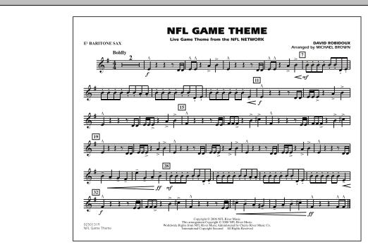 NFL Game Theme - Eb Baritone Sax (Marching Band)