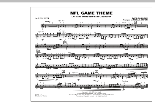 NFL Game Theme - 1st Bb Trumpet (Marching Band)