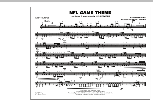 NFL Game Theme - 2nd Bb Trumpet (Marching Band)