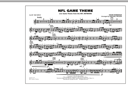 NFL Game Theme - 3rd Bb Trumpet (Marching Band)