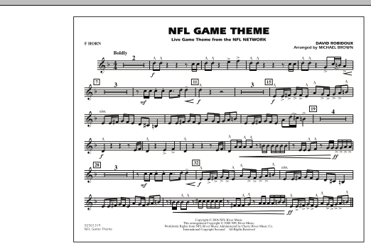 NFL Game Theme - F Horn (Marching Band)