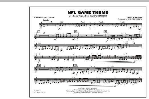 NFL Game Theme - Bb Horn/Flugelhorn (Marching Band)