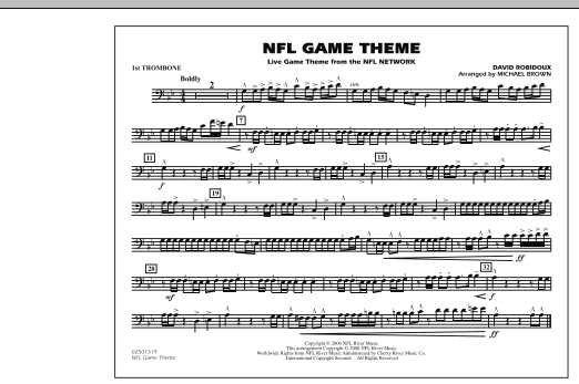 NFL Game Theme - 1st Trombone (Marching Band)