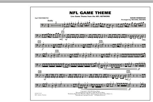 NFL Game Theme - 2nd Trombone (Marching Band)