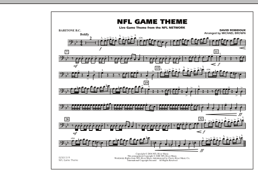 NFL Game Theme - Baritone B.C. (Marching Band)