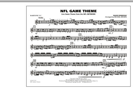 NFL Game Theme - Baritone T.C. (Marching Band)