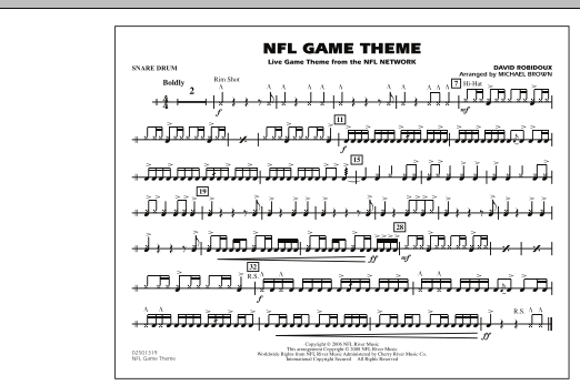 NFL Game Theme - Snare Drum (Marching Band)