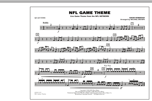 NFL Game Theme - Quad Toms (Marching Band)