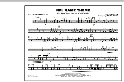 NFL Game Theme - Multiple Bass Drums (Marching Band)