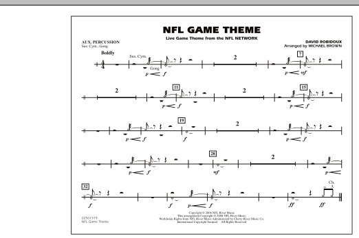 NFL Game Theme - Aux Percussion (Marching Band)