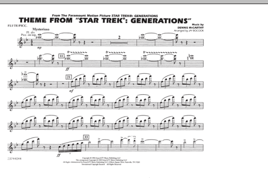 Theme from Star Trek: Generations - Flute/Piccolo (Marching Band)