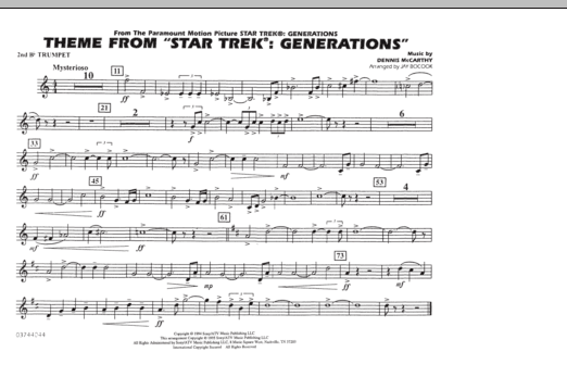 Theme from Star Trek: Generations - 2nd Bb Trumpet (Marching Band)