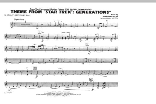 Theme from Star Trek: Generations - Bb Horn/Flugelhorn (Marching Band)