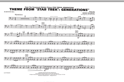Theme from Star Trek: Generations - Baritone B.C. (Marching Band)