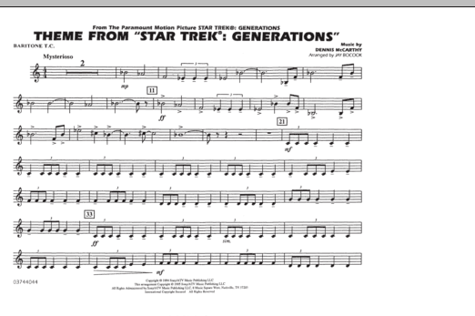 Theme from Star Trek: Generations - Baritone T.C. (Marching Band)