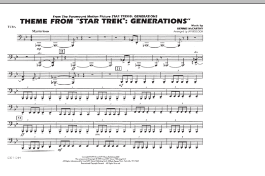 Theme from Star Trek: Generations - Tuba (Marching Band)